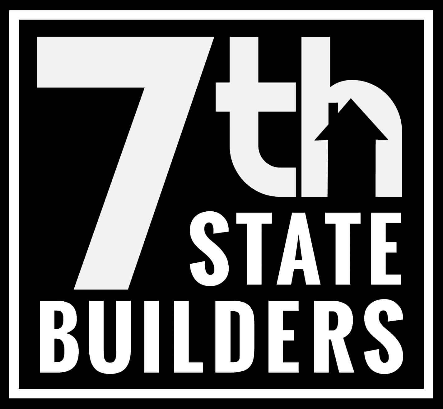 7th State Builders Logo (black background)