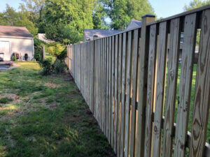 new fence construction in Prince Frederick