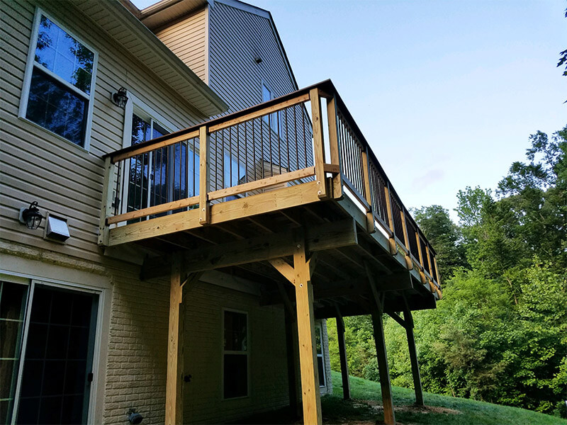 Second Story Deck Build Aceek Maryland 7th State Builders