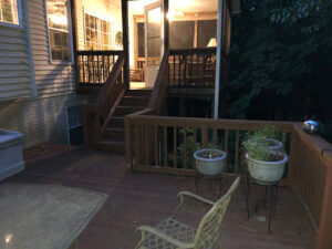 New Deck + Screened-in Porch in Maryland Before Images