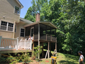Screened-in Porch in Maryland Before