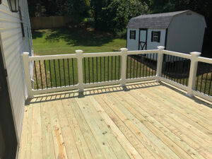 Pressure-Treated Wood Deck in Chesapeake Beach