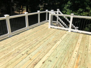Pressure-Treated Wood Deck-Chesapeake Beach Top view