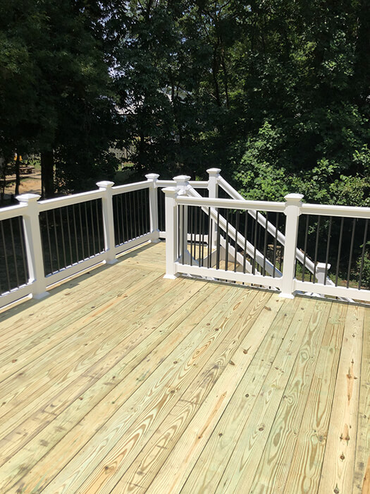 Deck Stairs from Up Top