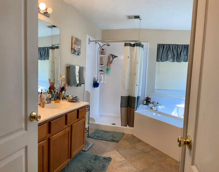 Custom Master Bathroom Remodel Before