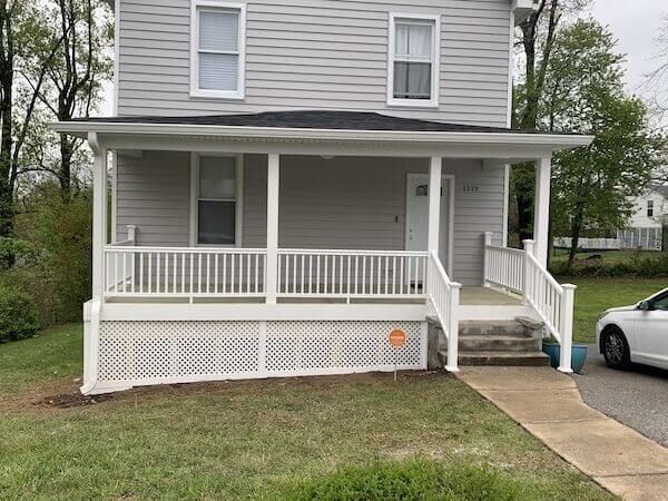 Front Porch Rebuild in Maryland After 2