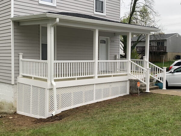 Front Porch Rebuild in Maryland After 1