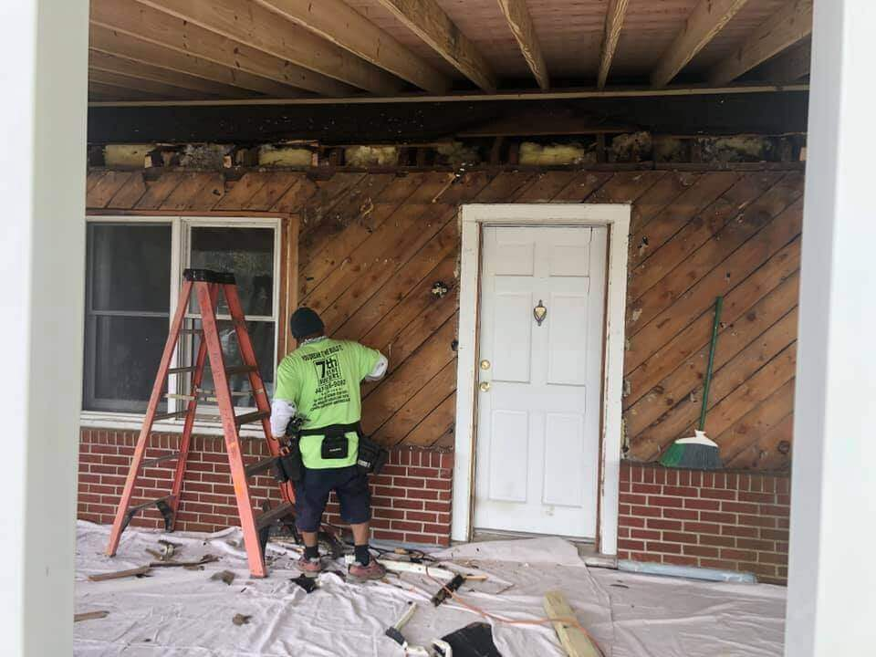 Taking Down of Old Siding