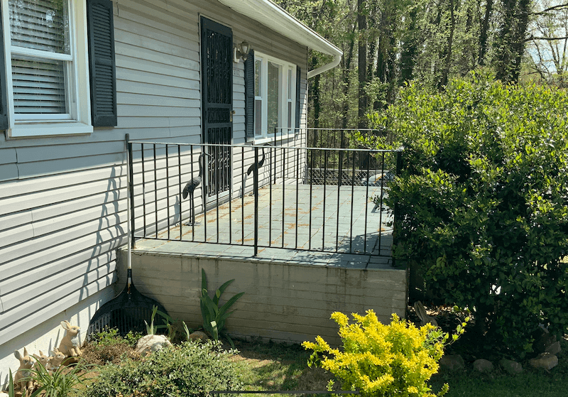 Before Side of Front Porch