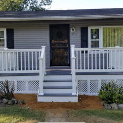 New Front Porch and Stairway in North Beach, Maryland