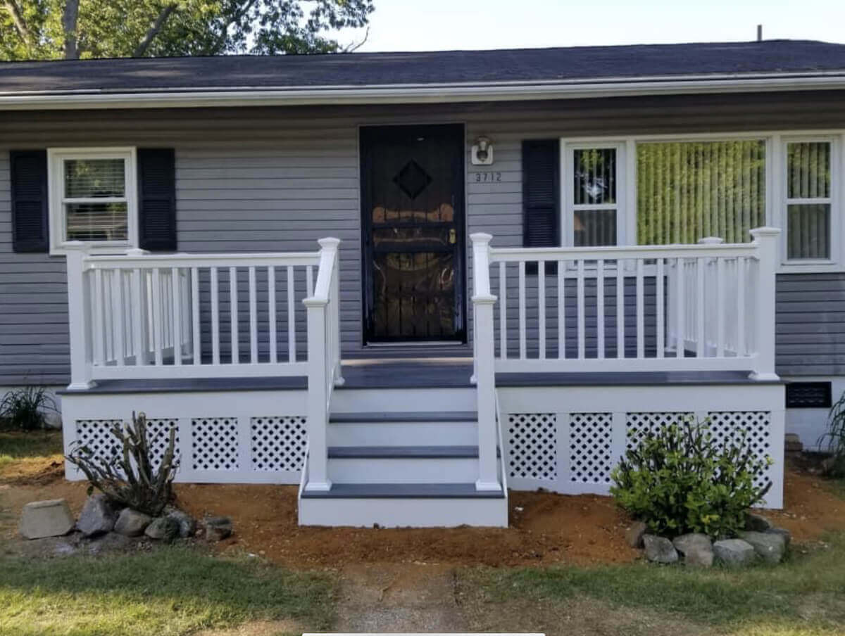 New Front Porch in North Beach, Maryland