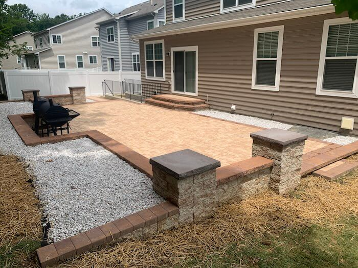 New Patio After Toward House- Waldorf Project