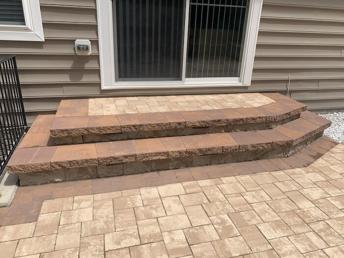 Steps - New Patio in Southern Maryland