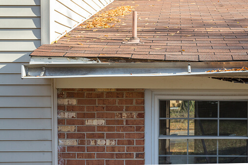 Replace Gutters - Damaged
