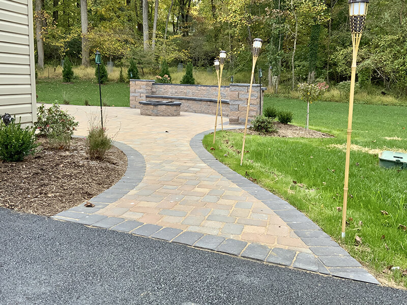 Annapolis Paver Walkway to Fire Pit Area