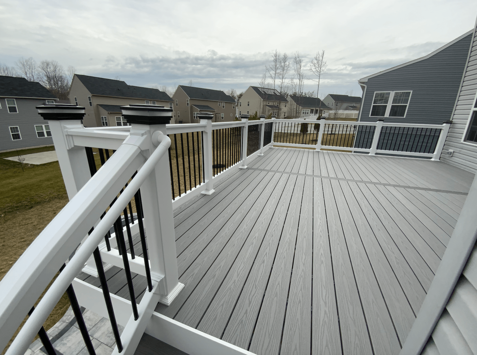 New Deck and Patio - Deck View