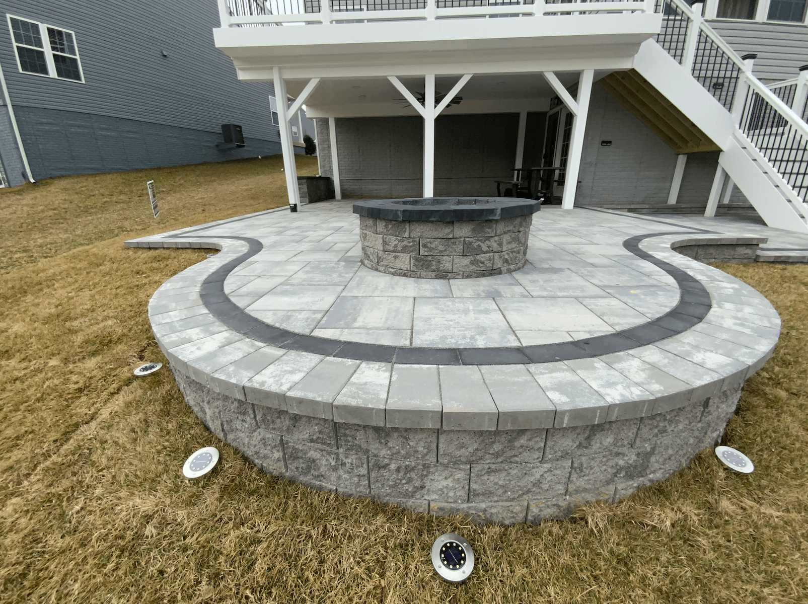 Custom Built-in Fire Pit