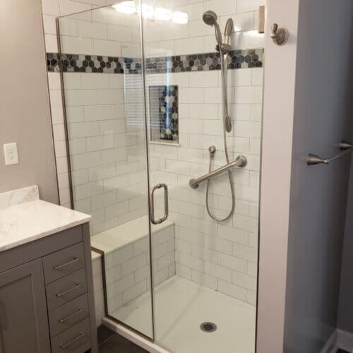 Home Renovation Newburg, MD - Shower Photo