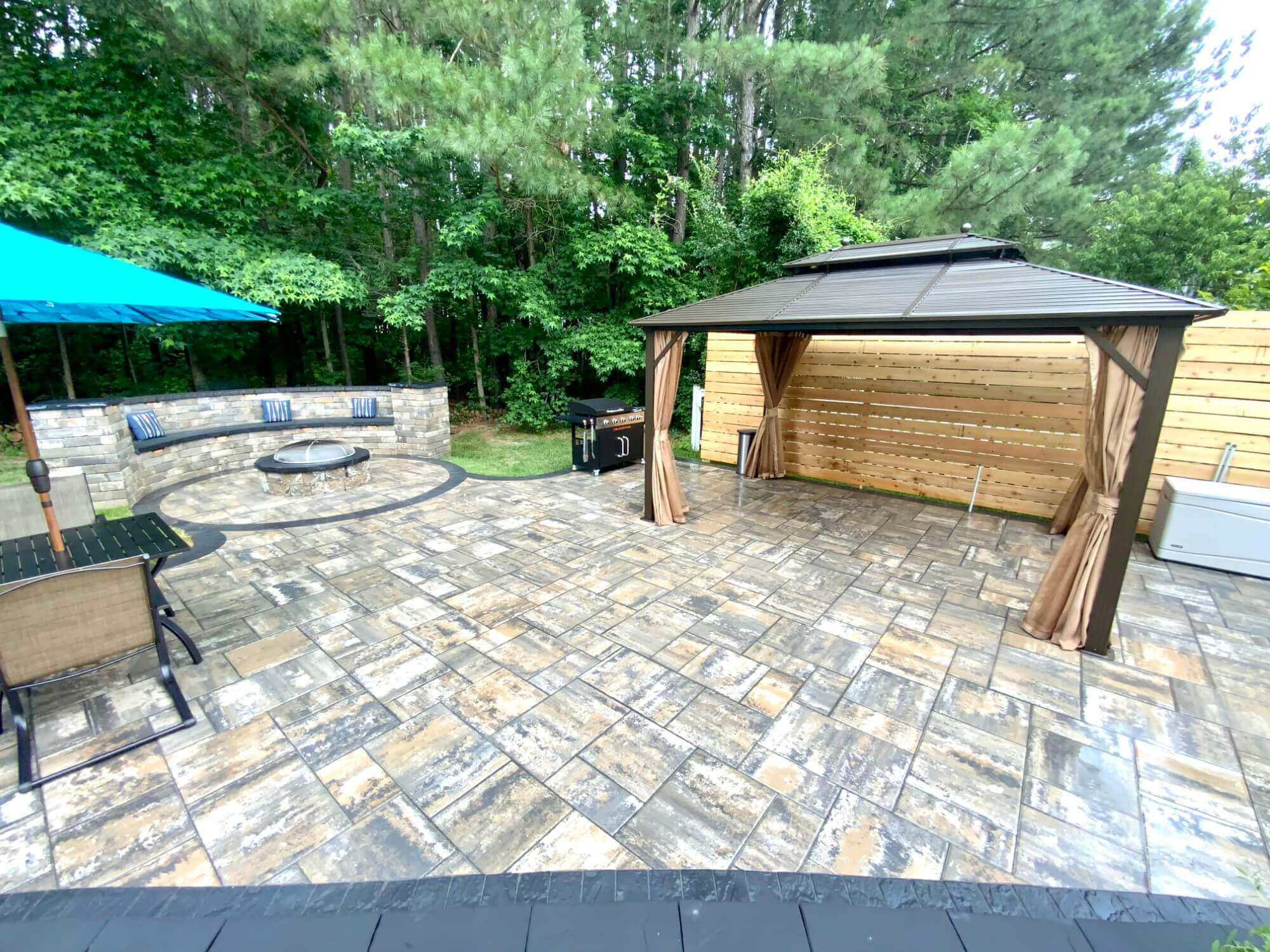 backyard patio ideas with firepit in Maryland
