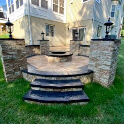Beautiful Firepit Before and After for Small Side Yard