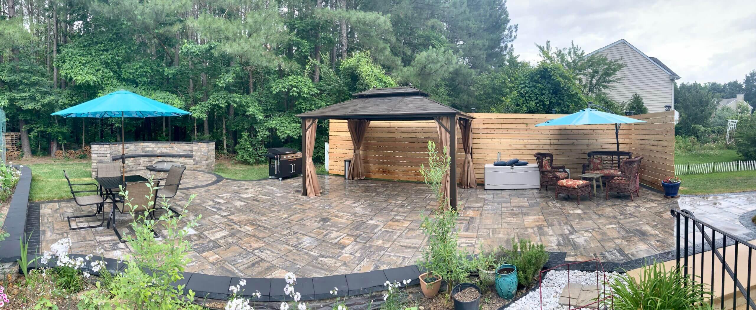 backyard transformation after