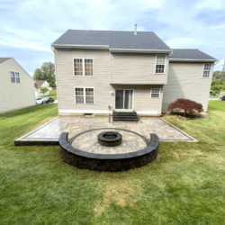 Gorgeous Backyard Patio and Firepit in Fort Washington, Maryland