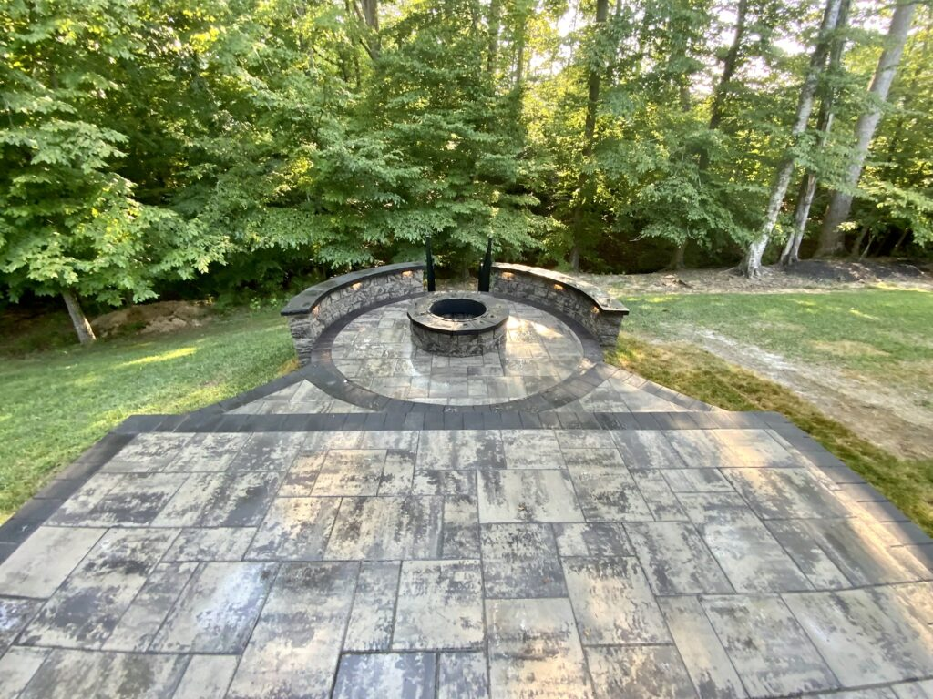 Firepit Final Look With Knee Wall