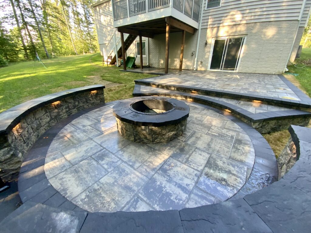 After Patio in Prince Frederick with Firepit